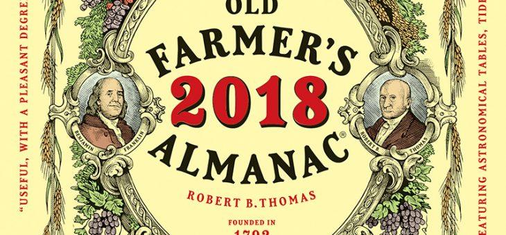 Début de la journée! L'almanach 2018 Old Farmer