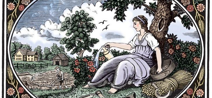 Art of The Old Farmer's Les jardins de Laurent: The Title Pages