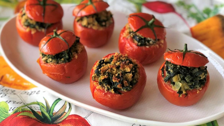 Recette Tomates farcies aux épinards | Les jardins de Laurent du vieux fermier