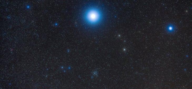 Bright Sirius est l'étoile du Nouvel An