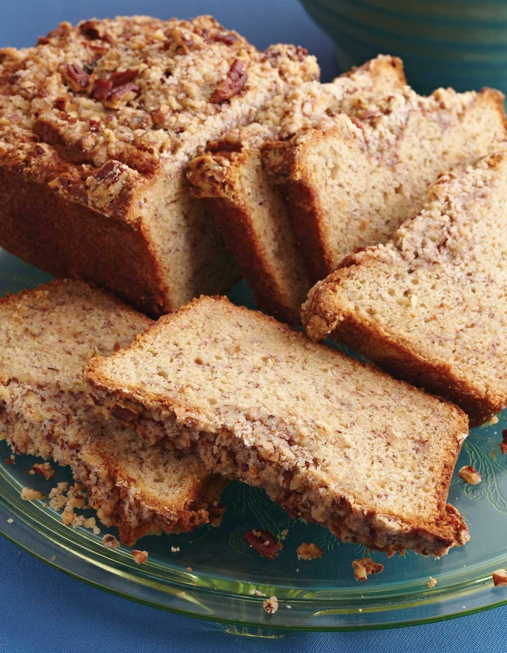 Recette de pain aux bananes et aux noix de pécan Streusel
