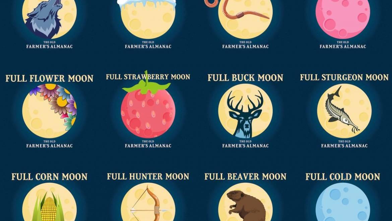 Noms de pleine lune: noms de lune amérindiens et folklore