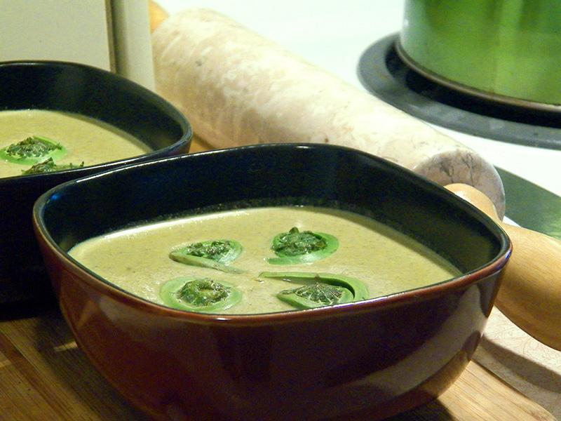 Recette de soupe à la crème de têtes de violon