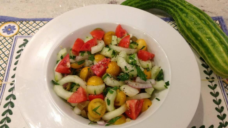 Recette de salade de concombre et de tomates à la castillane