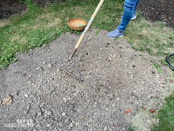 Préparation du site pour la plantation de gazon