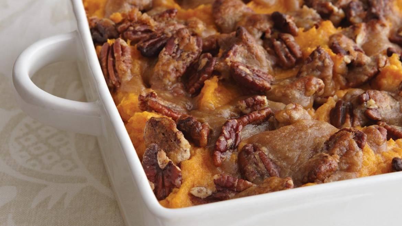 Recette de casserole de patates douces en croûte de pacanes