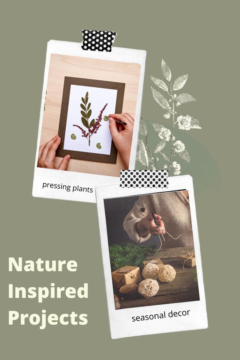 Inspiration de conception d'artisanat – Regardez dans le jardin pour des fournitures d'artisanat naturelles