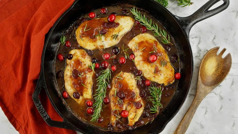 Recette de poulet aux canneberges facile |  Les jardins de Laurent du vieux fermier