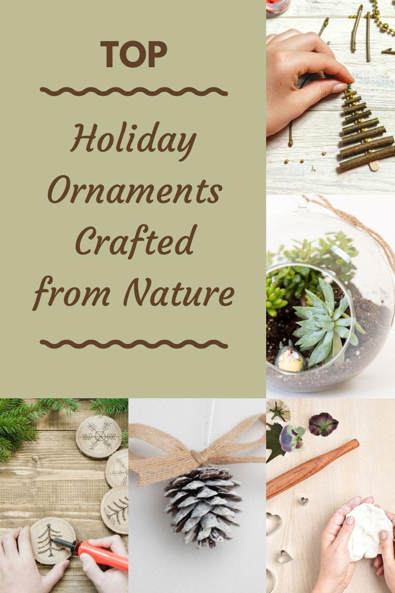 Décorer les arbres de Noël: Top ornements de vacances bricolage