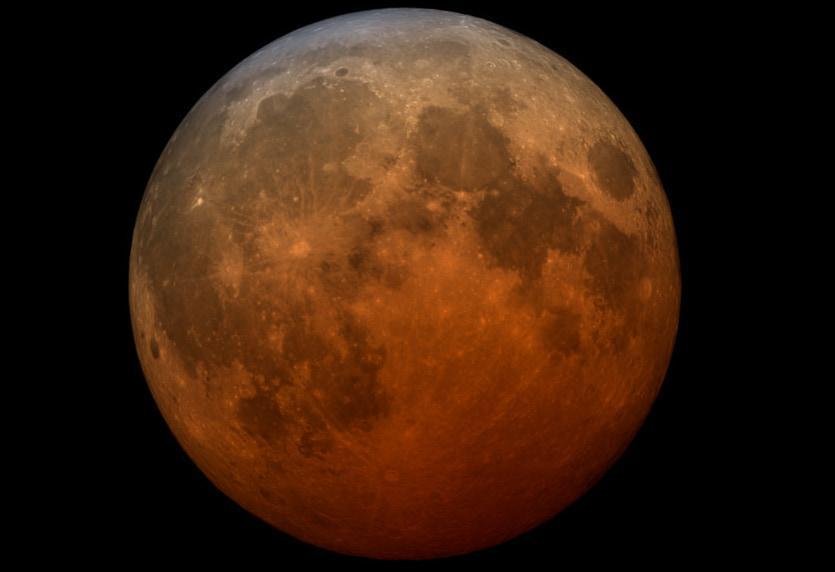 Éclipse lunaire totale du 26 mai Lune de sang de la supermoon