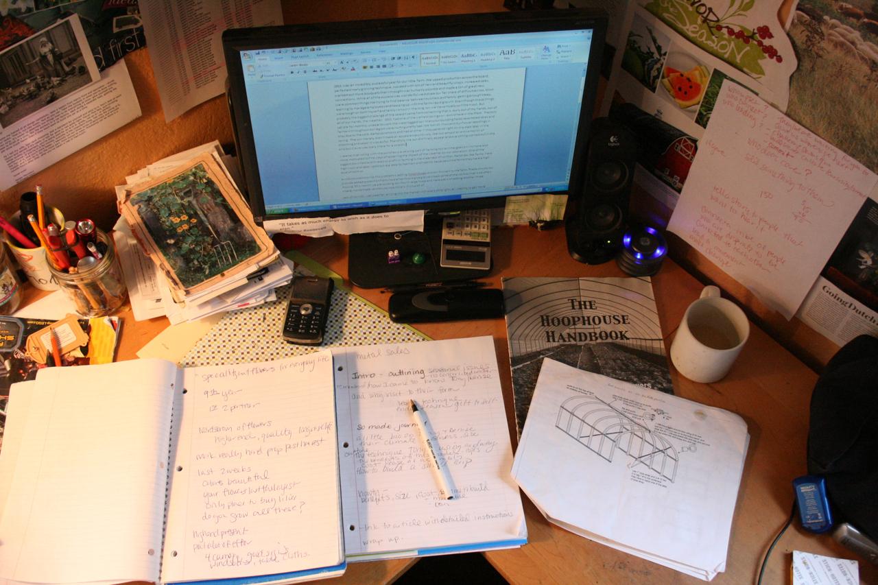 Le bureau d'Erin Benzakein